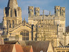 Cathedral and Christ Church from Westgate (Bruce Clarke) Tags: stone olympus universityofoxford building westgateoxford collegechapel city outdoor stonework oxford churchofengland m43 christchurchcathedral omdem1 architecture 75300mmii sunny telephoto tower christchurch flickrmeet