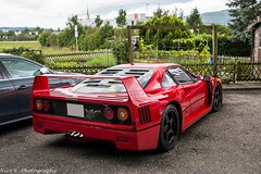 Ferrari F40 (Nico K. Photography) Tags: ferrari f40 classic legend supercars rare red nicokphotography switzerland oftringen