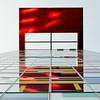 Zeit für Farbe (Perspektivenwechsel / Fotografie Sabine Werfel) Tags: urban minimal minimalism architecture architektur lookup fassade building spiegelung reflection düsseldorf medienhafen
