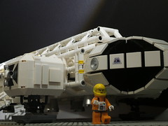 Space 1999 Eagle Transporter front (ledamu12) Tags: mondbasis alpha1 space 1999 adler eagle transporter lego moc