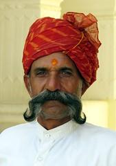 mandawa 2017 (gerben more) Tags: guard moustache man turban rajasthan mandawa india people portrait portret