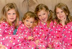 My Fabulous 4 Granddaughters (Pejasar) Tags: oklahoma tulsa pink pajamas christmas family beautiful cute girls granddaughters 4 four