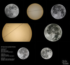 2017 International Space Station Solar and Lunar Transits (Michael Seeley) Tags: 2017 canon capecanaveral capecanaveralairforcestation iss isslunartransit isswave internationalspacestation joeacaba mikeseeley paolonespoli randybresnik spotthestation supermoon supermoon2017 transit
