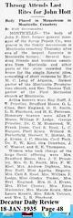 John Hott of Monticello Pepsin Last Rites  08-JAN-1935 (RLWisegarver) Tags: piatt county history monticello illinois usa il