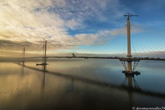 IMG_4717 (davemacnoodles59a) Tags: december2016 wintertime eaw tripod sky clouds white blue river riverforth scottishriver water reflection bridge thequeensferrycrossing bridgesovertheriverforth scottishbridges shore scenicview landscape waterscape touristattraction visitiorattraction thequeensferrycrossingattraction