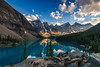 Morraine lake sunset, Canada (tvrdypavel) Tags: ab alberta banffnationalpark beautiful blue canada canadian canoes forest glacier lake lakelouise landscape morning mountain nature panorama reflection rockies scenery scenic snow summer sunrise tenpeaks travel valley water field ca