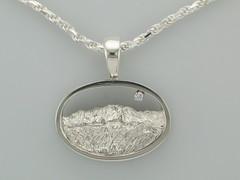The Rockies Continuum Silver & Diamond Pikes Peak & G.o.G Pendant