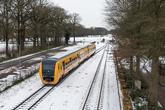 NSM 3426, Ruurlo (Dennis te D) Tags: dm90 3426 nsm buffel ns zwolle blerick ruurlo brug voetgangersbrug sneeuw