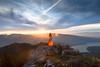 A beer and a view, what else? (Nicomonaco73) Tags: la tournette hiking randonnée haute savoie 74 bière béer mont blanc lac annecy mountain landscape sunset sun rising