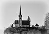 AutobahnSloveniaBDMCart2 (Sandi Beaudoin) Tags: autobahn europe church buildings mountain green black white hillside tower spire old quaint slovenia fall october