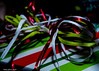 Ribbens (that_damn_duck) Tags: christmaspresent ribbon colorful holiday wrappingpaper