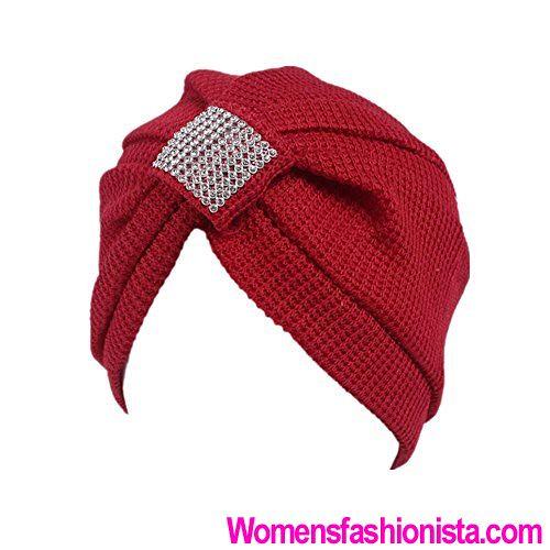 64117d1c04b Qingfan Women Crochet Solid Pre Tied Warm Cancer Chemo Hat Beanie Turban  Stretch Head Wrap Cap