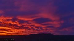 Still rising. ( Explored ) (nondesigner59) Tags: sunrise redsky clouds nature victoriatower castlehill huddersfield copyrightmmee eos7dmkii nondesigner nd59