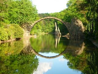 Rakotzsee mit Rakotzbrücke