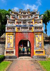Imperial City - Huế (Valdy71) Tags: vietnam hue citadel gate color travel valdy nikon huế