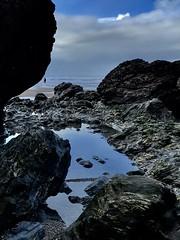 Rock pools Porthtowan (Purple Tomato Images) Tags: iphone7 iphoneart cornwall water beach coast rockpools sea