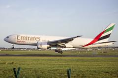 A6-EFF | Emirates Skycargo | Boeing B777-F1H | CN 35612 | Built 2011 | DUB/EIDW 20/10/2017 (Mick Planespotter) Tags: aircraft airport 2017 dublinairport collinstown flight nik sharpenerpro3 a6eff emirates skycargo boeing b777f1h 35612 2011 dub eidw 20102017 cargo freighter b777
