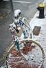 A Bike Left Outside (AntyDiluvian) Tags: boston massachusetts southend snow wetsnow dartmouthstreet bike bicycle street hydrant