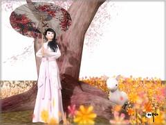 Hanfu in Autumn (NyuNyu Kimono, NYU!) Tags: secondlife second life nyu hanfu parasol