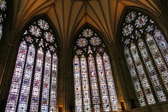 York Minster, York, UK (Robby Virus) Tags: york england uk unitedkingdom britain british greatbritain minster cathedral church christian christianity religion god jesus christ architecture building churchofengland gothic medieval stained glass window windows
