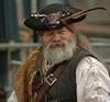 Pirate (swong95765) Tags: costume man pirate outfit parade bokeh beard hat