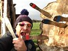 Knife Throwing (bristolsurfer) Tags: knife throwing challenge200 knives battleaxes battlearchery