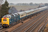 """Class 55 55009 (D9009) """"Alycidion""""_& Class 68 68031 """"Excelsior"""" DRS_C301097 (Jonathan Irwin Photography) Tags: class 55 55009 d9009 alycidion 68 68031 excelsior at colton junction 30122017 very difficult photographic conditions low light fair amount mist"""