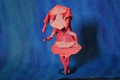 Housmaid by ob猫~ (Nikita Vasiliev) Tags: ob猫~ origami origamiart paper paperart housemaid girl teen human