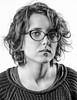 Kasia (Bartosz Sroka) Tags: white black bw blackwhite contrast flash light nikon 50mm 18 d5100 poland girl woman portrait people studio shadow