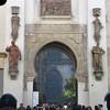 Puerta del Perdón, view into Patio de los Naranjos, Seville, Spain (Paul McClure DC) Tags: seville sevilla spain andalusia andalucía españa dec2016 architecture historic sculpture cathedral mosque moorish
