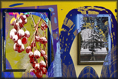 La exposición (seguicollar) Tags: imagencreativa photomanipulación art arte artecreativo artedigital virginiaseguí nieve frutos cuadros exposición amarillo