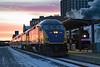 Sunset at Saint Paul Union Depot (jterry618) Tags: st paul u stpauluniondepot railroad train metrotransit northstar milwaukeeroad261