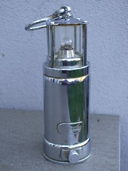 Vintage Oldham Chrome / Nickel Plated Torch Shaped Like a Miners Light (beetle2001cybergreen) Tags: vintage oldham chrome nickel plated torch shaped like miners light