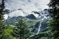 Schmadribachfall waterfall & Grosshorn, Upper Lauterbrunnen Valley, Switzerland. (Alpenwild Trips) Tags: europe switzerland falls landscape mountain water waterfall weather lauterbrunnen bern