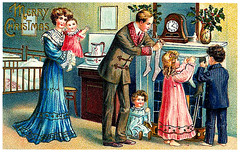 """Merry Christmas to One and All in Flickrland (JFGryphon) Tags: 1823 clementclarkemoore """"avisitfromsaintnicholas""""stockings victorianchristmas santaclaus fireplace victorian christmas 1850 merrychristmas flickrland stockings boxingday ststephensday"""
