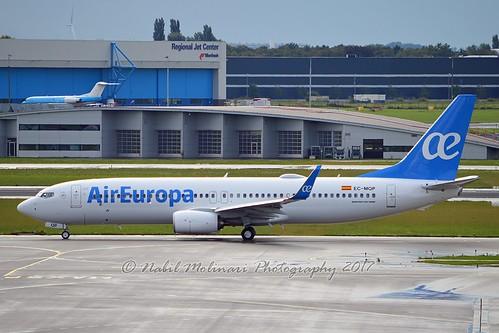 Air Europa EC-MQP Boeing 737-85P Winglets cn/60588-6554 @ EHAM / AMS 09-09-2017