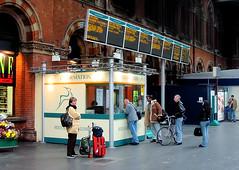 St Pancras (R~P~M) Tags: train railway station london stpancras england uk unitedkingdom greatbritain midlandmainline nationalexpress concourse