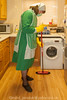 Kelly Green Overall & Long Check Tabard 02 (Maid Janet) Tags: bandana tabard sissy charwoman housework housekeeper crossdresser overall sissymaid cleaning skivvy cleaner rubbergloves crossdressing putzfrau maid headscarf char housekeeping housewife tranny domestic housemaid chores kitchen chambermaid headtriangle scrubber marigolds