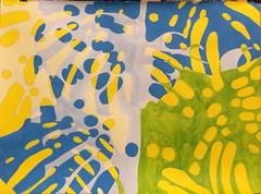 2017.10.14 Canopy (WIP) (Julia L. Kay) Tags: shadow shadows silhouette juliakay julialkay julia kay artist artista artiste künstler art kunst peinture dessin arte woman female sanfrancisco san francisco daily everyday 365 botanical botany plant foliage splitleaf philodendron splitleafphilodendron sundances schminke aerocolor ink paper brush liquitex