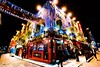 Temple Bar - Dublin (Enson Photography) Tags: europe red black green blue banner yellow d750 nikon traveling trip holiday beer templebar drink light evening landscape night photo dublin ireland