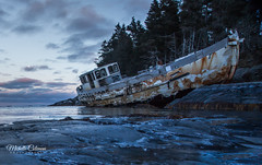 Derelict Boat, Nova Scotia (Michelle Coleman) Tags: boat ship shipwreck schwalbe sailing nova scotia roadtrip