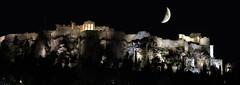 Panoramicas 60 (jburzuri) Tags: grecia atenas acropolis nocturna luna flickrunitedaward