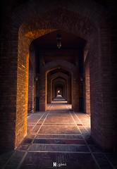 Passage (Nabeel Iqbal) Tags: grand jamia mosque bharia town lahore passage landscape architecture sunset bricks colors camera canon 6d 1740mm photography pakistan