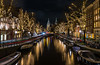 Classic Amsterdam [Explored 01-01-2018] (Enrique EKOGA) Tags: explore amsterdam netherlands dutch street city architecture water boat buildings lights night longexposure windows travel nikon tokina d800e jordaan holland rijksmuseum christmas decoration