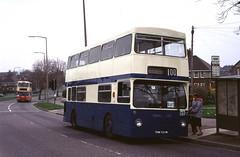 45. THM 521M: SUT, Sheffield (chucklebuster) Tags: thm521m sut airebus london transport western national yelloway dms1521 daimler fleetline metrocammell sheffield