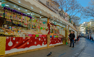 Christmas Stalls (Mercado Central Area - Valencia) (Fujifilm X70 Compact with 21mm wide converter)   (1 of 1)