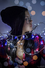 Monce; Xmas session (Roberto Portillo; digital photography) Tags: portrait girl nikon d3100 xmas led lights bokeh