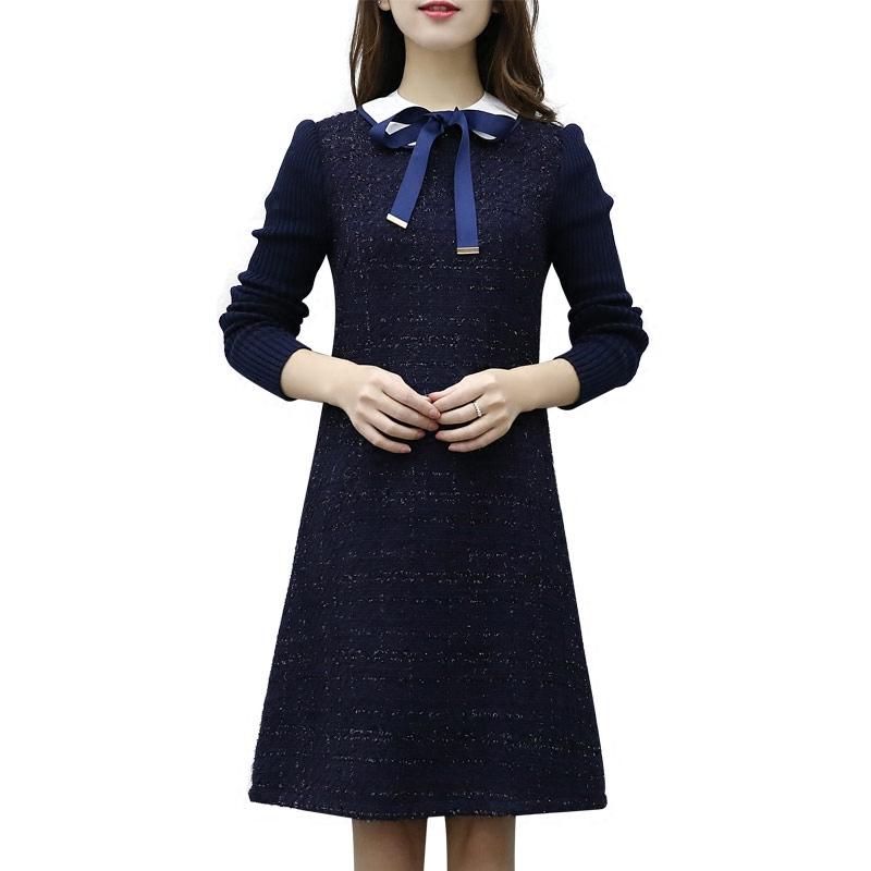 2018 new spring fat sister mm size dress autumn ladies hair Nexian skirt 200 jins thin reservoir