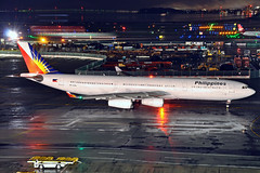 RP-C3441 (Rich Snyder--Jetarazzi Photography) Tags: philippineairlines philippine pal pr airbus a340 a340300 a340313 a343 rpc3441 departure departing sanfranciscointernationalairport sfo ksfo millbrae california ca airplane airliner aircraft jet plane jetliner ramptowera rcta atower dark night lights