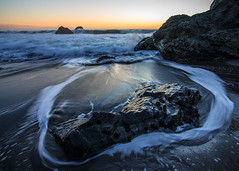 Rockring (Middle aged Nikonite) Tags: rock beach bodega bay california nikon d750 outdoor nature landscape seascape waves water ocean sunset tide